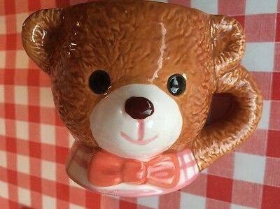 Teddy bear child's cup made by KIC Japan