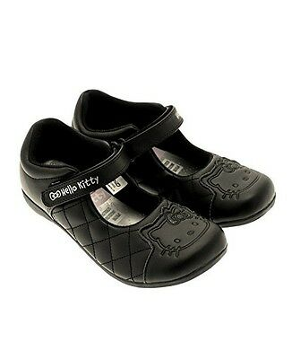 1eabd9e8d New Infant Girls Hello Kitty Black Quilted School/Party Flat Shoes Sizes  6-12
