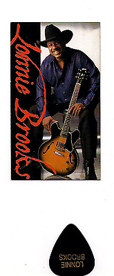 Lonnie Brooks Booking Card & Stage used pick- Show At Buddy Guys Legends Chitown