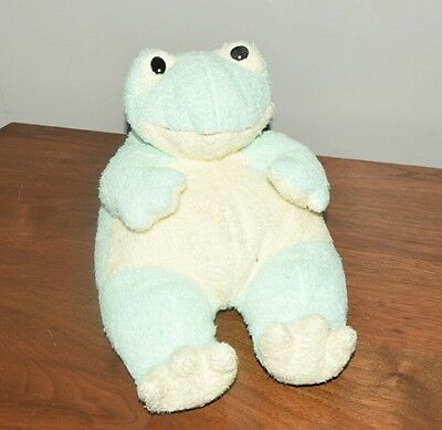 """1999 Baby Ty Plush Chenille 12"""" Mint Green Frogbaby Frog Lovey Rattle Pluffies"""