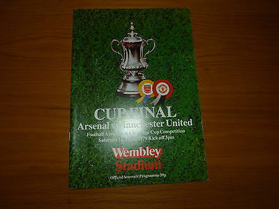 *REDUCED*  MANCHESTER UNITED v ARSENAL 1979 FA CUP FINAL PROGRAMME