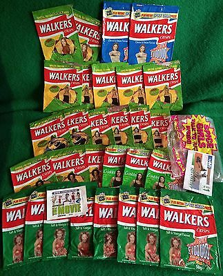 Walkers Crisps Spice Girls Packets - A Collection Of 29 Crisp Packets!