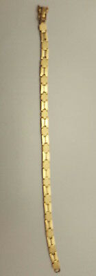 18K peruvian solid gold bracelet DEFECT broken in the brooch