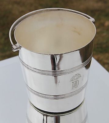 P&o Line Silver Plate Art Deco 1St Class Cocktail Ice Bucket 1930's Ocean Liner