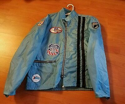 Vintage Union Pacific Railroad Trains Jacket Med by Calderon California MADE USA