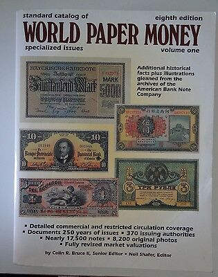 Standard Catalog of World Paper Money spezialized issues eighth edition vol. 1