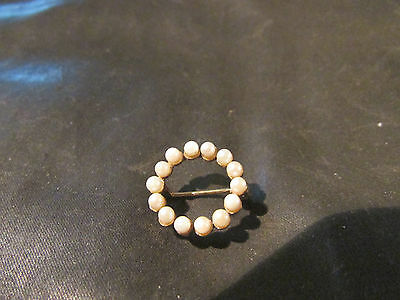 Lovely Vintage 9ct Gold & Cultured Pearl Brooch