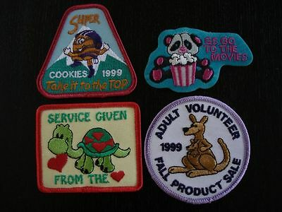 Patches Assorted Set of 4 New