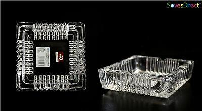 Square Cigarette Ashtray Glass Crystal Bar Pub Restaurant Home Office Smoke