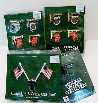 Dept.56  Heritage Village & Christmas In City Accessories , Banners And Flags