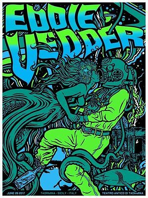 Eddie Vedder Poster Taormina Sicily Italy Signed & Numbered edition of 100