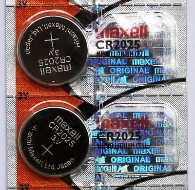 2PC Maxell CR2025 Coin Cell Battery - Made in Japan