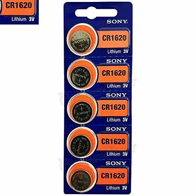 Sony 5x CR1620 BR1620 CR 1620 - 3V Lithium Button Cell Battery Batteries