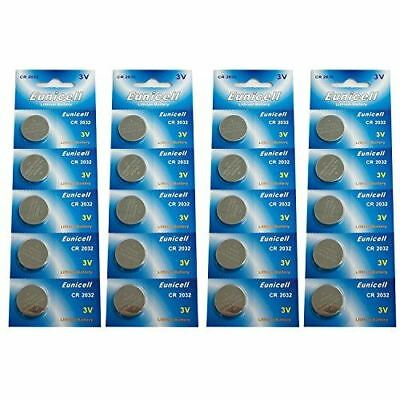 Eunicell CR2032 5004LC Lithium Blister Pack 3V 3 Volt Coin Cell Batteries (20 pc