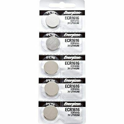 5 x Energizer 1616 Watch Batteries, 3V Lithium CR1616