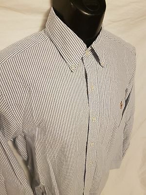 Ralph Lauren Men's Dress Shirt Size Small Classic Fit Striped business casual