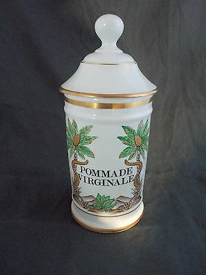 ancien pot pharmacie porcelaine de limoges au pot de galien pommade virginale