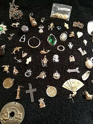 lot of over 50 charms and pendants