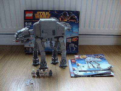 Lego 75054 Star Wars At At 100% Complete With Figures Box And Instructions