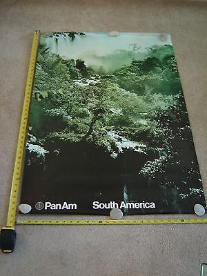 Vintage Original Pan Am Airlines Poster South America