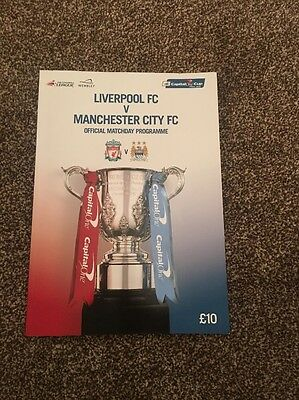 Liverpool V Manchester City Official Match Day Programme