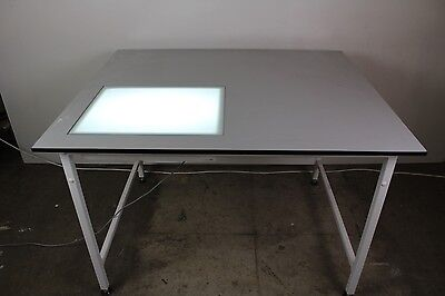 Lab Tables with H.A.West (X-RAY) Ltd Desk Mounted Viewing Box