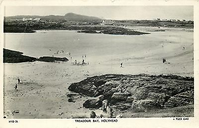 s08971 Treaddur Bay, Holyhead, Anglesey, Wales RP postcard unposted