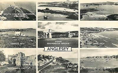 s08980 Multiview, Anglesey, Wales RP postcard unposted