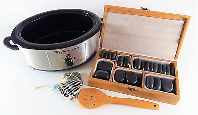 44 Piece Hot Stone Massage Set with Heater by Beautiful Life