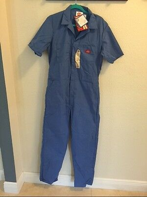 Mens Dickies Coveralls Short Sleeve Light Blue Size 40 Tall