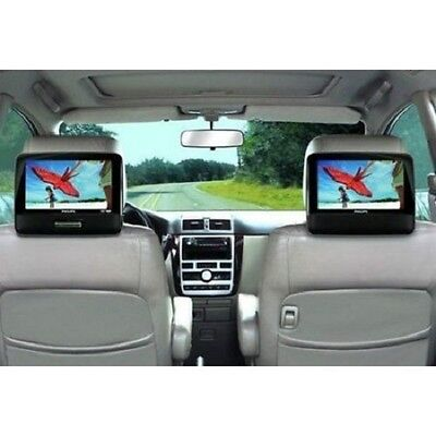 """Portable DVD Player Playback Audio Video Dual Screens 9"""" TFT For Car Travel"""