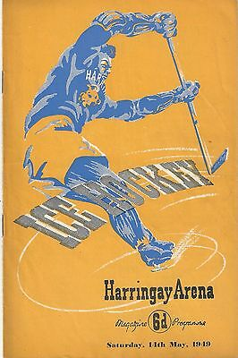 Ice Hockey - Harringay Greyhounds v Brighton Tigers - 14th May 1949