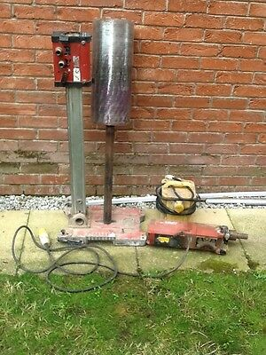 Hilti DD160E diamond core drill drilling rig with 220mm core drill and transform