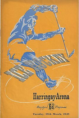 Ice Hockey - Harringay Greyhounds v Earls Court Rangers - 29th March 1949