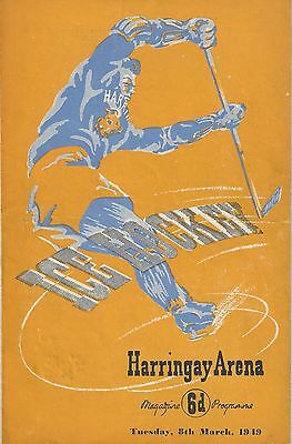 Ice Hockey - Harringay Greyhounds v Earls Court Rangers - 8th March 1949