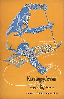 Ice Hockey - Harringay Greyhounds v Earls Court Rangers - 7th December 1948
