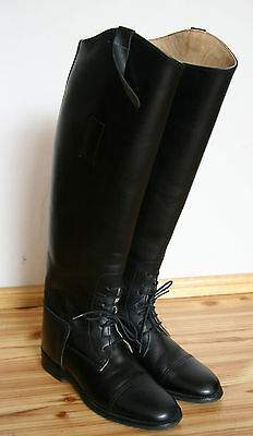 ROYALE Leather riding boots laced US 6 / UK 4 England Millers (cavallo, konigs)