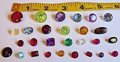 Large Lot of Synthetic Gemstones, Various Sizes Large & Small, Excellent Cond.