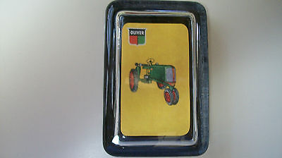 OLIVER GREEN TRACTOR Farm Advertising Red Green Sign Logo GLASS PAPERWEIGHT