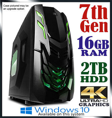 Intel Dual Core Gaming Computer 16GB Ram 2TB Office Desktop System PC i3 i5 i7