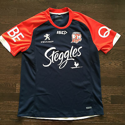 Sydney Roosters Steggles Australian Rugby Asics Jersey Mens Size M