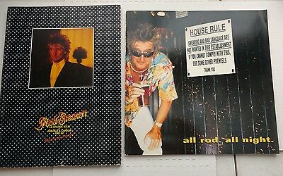 Rod Stewart concert tour program lot