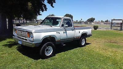 1978 Dodge Other Pickups power wagon adventurer w150 1978 dodge truck power wagon 4x4 California rust free shortbed fleetside driver