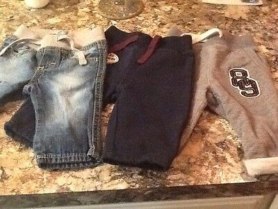 adorable lot of baby boy gap pants size 3-6 months