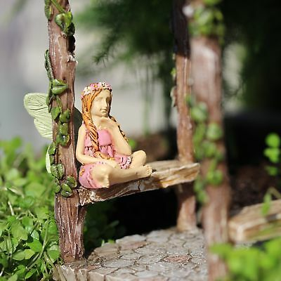 "1.5"" My Fairy Gardens Mini Figure ONLY - Kendall - Sitting Miniature Figurine"