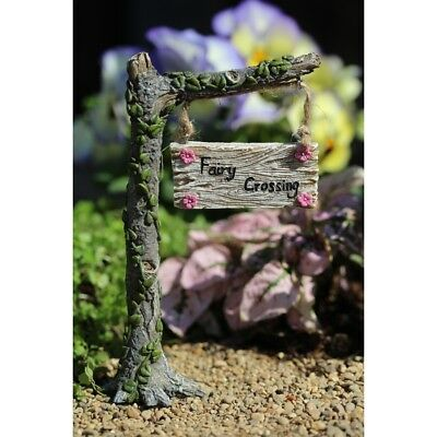 Miniature Dollhouse FAIRY GARDEN - Fairy Crossing Sign - Accessories