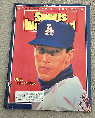 SPORTS ILLUSTRATED MAGAZINE Orel Hershiser Dodgers Sportsman Of The Year 1988