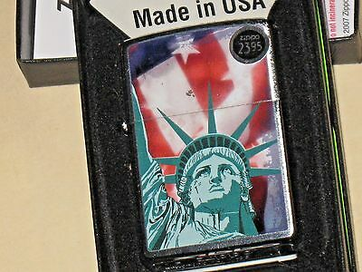 New Lady Liberty with Flag USA Windproof ZIPPO AMERICA Pride Ellis island Statue