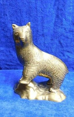 Vintage Large Bear Made Of Heavy Brass
