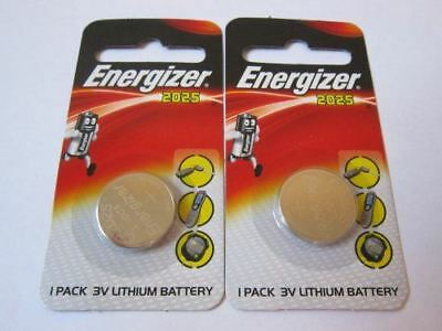 2 pcs 2025 CR2025 ECR2025 3V Lithium Energizer Coin / Button Cell Battery Batter